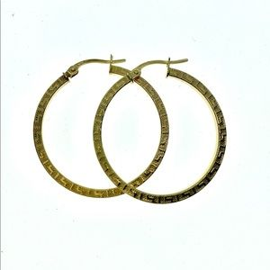 18kt Gold Vintage hoop earrings